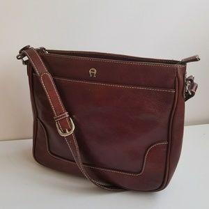 Etienne Aigner brown leather bag.